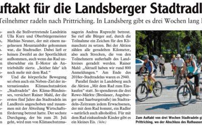 Auftakt für die Landsberger Stadtradler