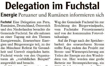 Delegation im Fuchstal