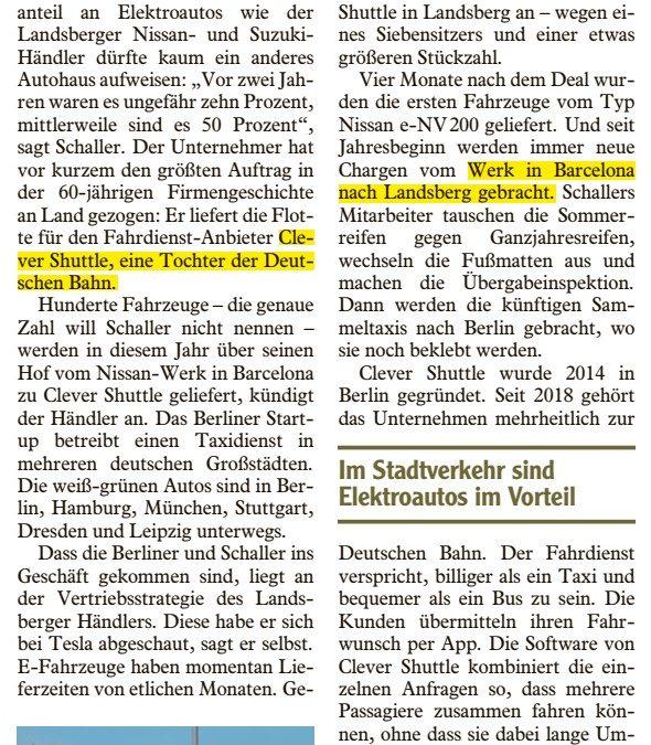 Landsberger liefert E-Autos nach Berlin