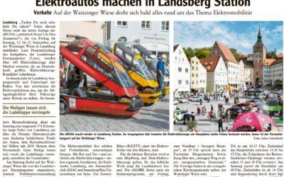Elektroautos machen in Landsberg Station