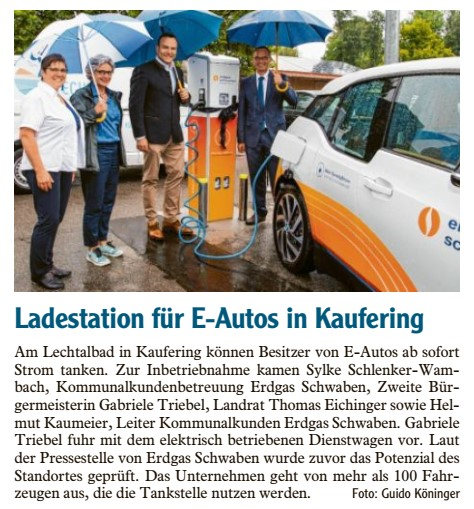 Ladestation für E-Autos in Kaufering