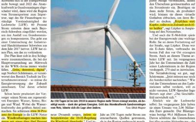 LEW fordert mehr Mut für Energiewende