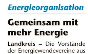Gemeinsam mit mehr Energie