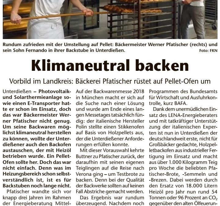Klimaneutral backen