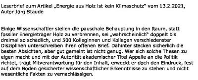 """""""Energie aus Holz ist kein Klimaschutz"""""""