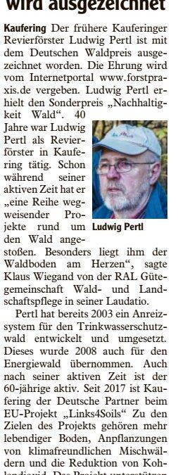 Ludwig Pertl wird ausgezeichnet